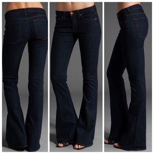 J Brand Dark Wash PURE Wide Flare Stretch Jeans 27